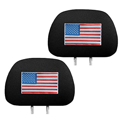 zhoubai US American Flag Headrest Covers for Cars - Stars and Stripes Head Rest Protector, 4th of July, Patriotic Decorations, Veteran\'s Day, Interior Auto Accessories: Automotive [5Bkhe0911565]