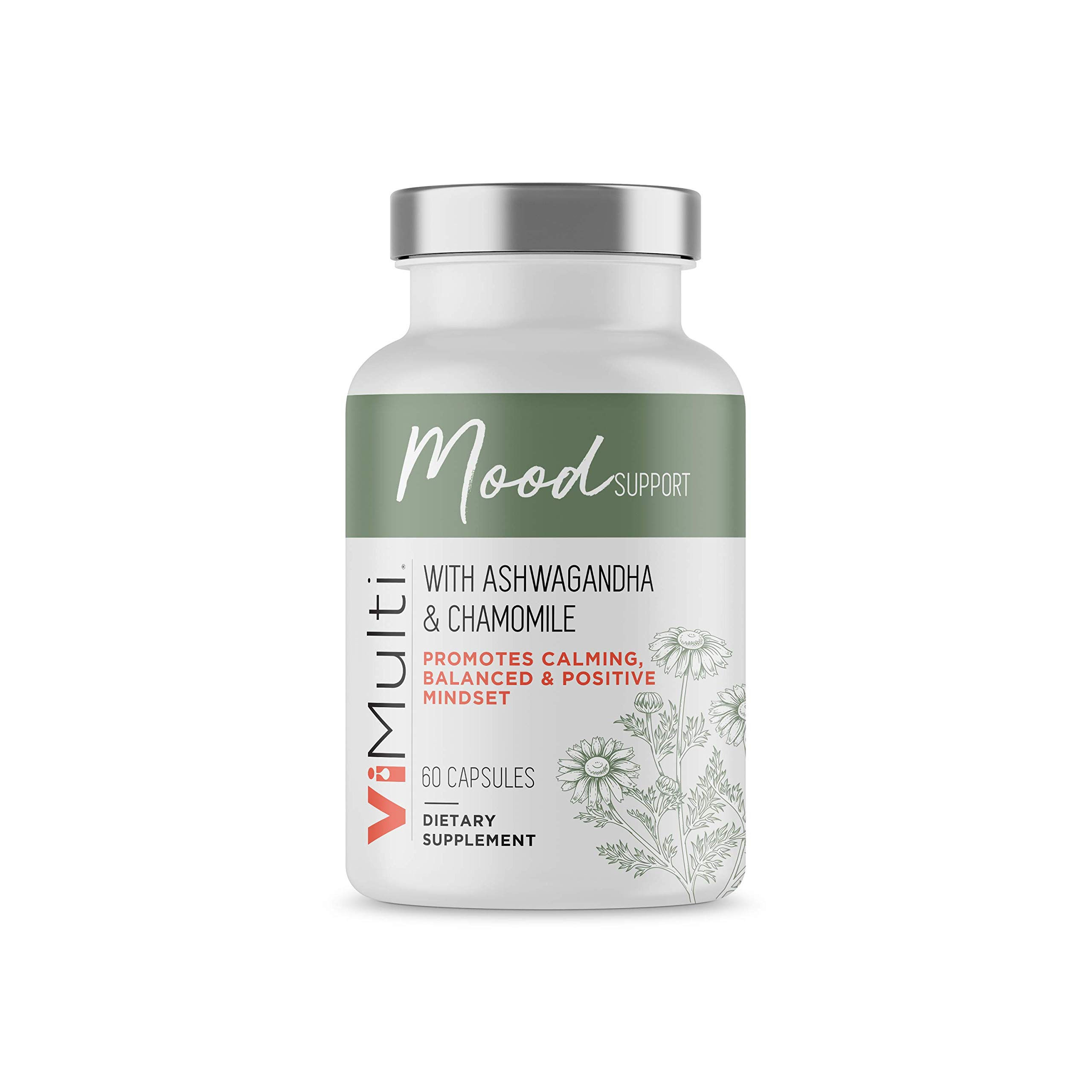 ViMulti Mood Support - Provides Anxiety Relief and Depression Support. Helps Manage Mood Swings with Mood Enhancing Vitamins.