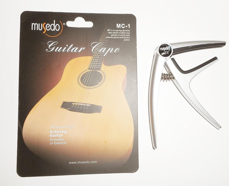 Musedo MC - 1 | Acoustic Electric Guitar Capoシルバー   B00EMEWDR8