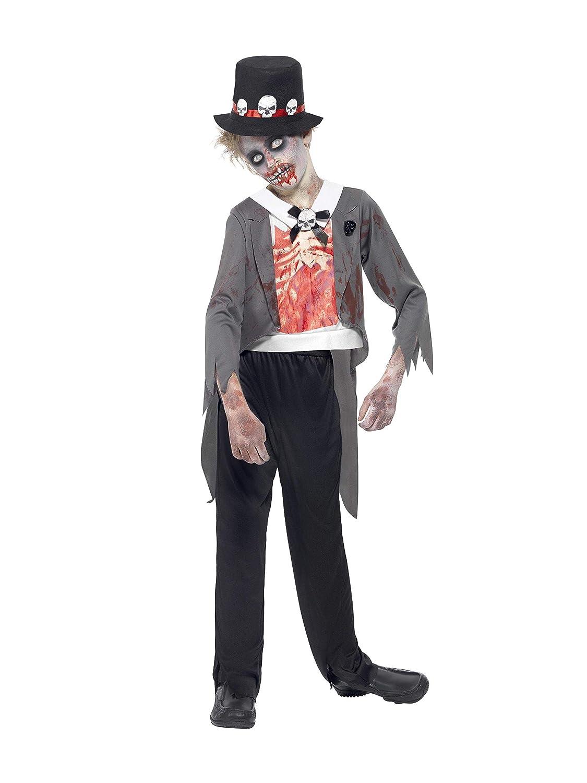 Smiffys Disfraz de Novio Zombi, Negro, con Chaqueta, Falsa Camisa ...