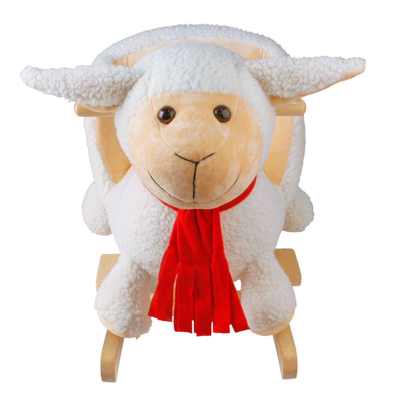 mit Sound,Keine Notwendigkeit zu installieren-Beige Schafe spezieller Schaukelstuhl f/ür Kinder YAOBLUESEA Schaukeltier Kinder und Baby Schaukelpferd