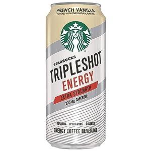 Starbucks Tripleshot Energy Extra Strength, French Vanilla, 15oz Cans (12 Pack)