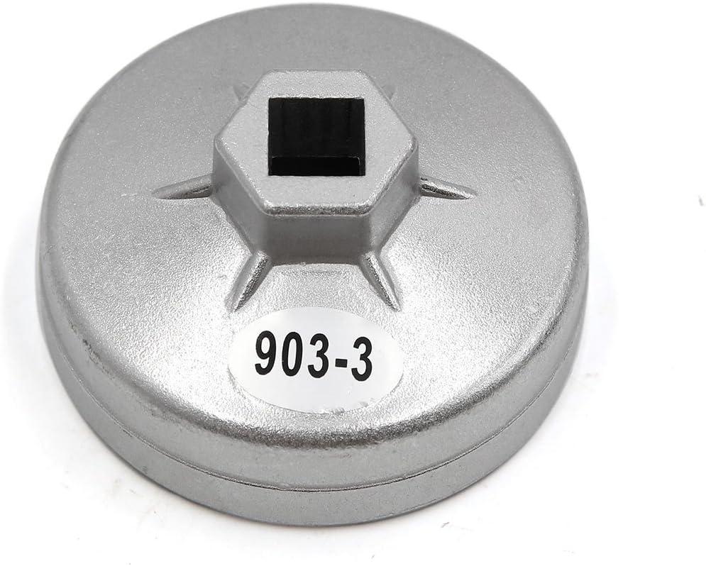 sourcingmap/® 74mm diam/ètre int/érieur 15 cl/é pour filtre /à huile fl/ûte outil d/épose douille pour voiture