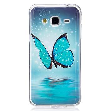 ISAKEN Funda para Samsung Galaxy Grand Prime, Slim Carcasa de Silicona TPU Luminosos Fluorescentes En La Oscuridad Trasera Bumper Case Cáscara para ...