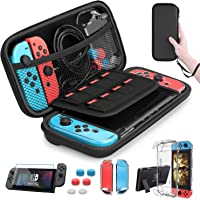 HEYSTOP Nintendo Switch Case - Nintendo Switch Carry Case Pouch + Switch Cover Case + HD Switch Screen Protector + Thumb…