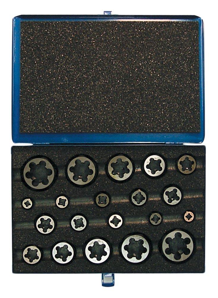 Cle-Line C67283 Hexagon Rethreading Die Set, M6 x 1, M8 x 1.25, M10 x 1.5, M12 x 1.75, M14 x 2, M16 x 2, M20 x 2.5 by Cle-line
