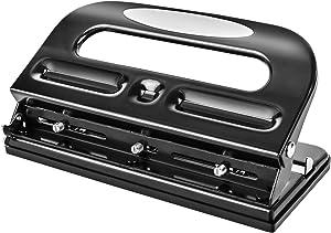 AmazonBasics 3-Hole Punch, 30 Sheet Capacity - Black
