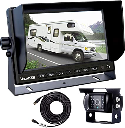 Backup Camera for Trucks, Two Installation Methods, No Interference, on