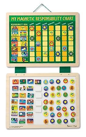 Melissa doug 13789 my magnetic responsibility chart amazon co uk