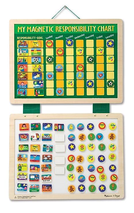 Melissa & Doug - Horario magnético infantil de tareas (13789): Melissa & Doug Magnetic Responsibility Chart: Amazon.es: Juguetes y juegos