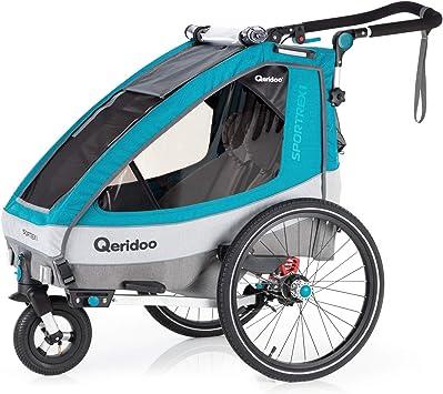 Qeridoo Sportrex - Remolque infantil para bicicleta (1 plaza ...