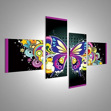 Quadri moderni illustrazione vettoriale di fiori colorati con ...