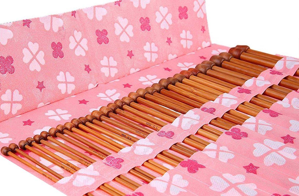 Size 3.0mm-10mm 9.9 Bamboo Knitting Needles for Beginner and Professinal Seawhisper