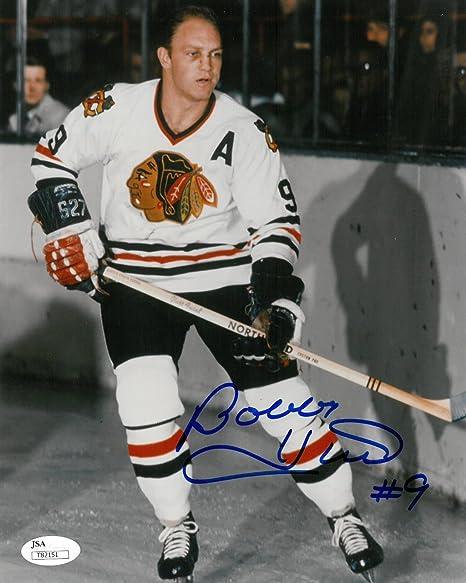 f567a7a45 Bobby Hull Signed Chicago Blackhawks Autographed 8x10 Photo JSA #T82151