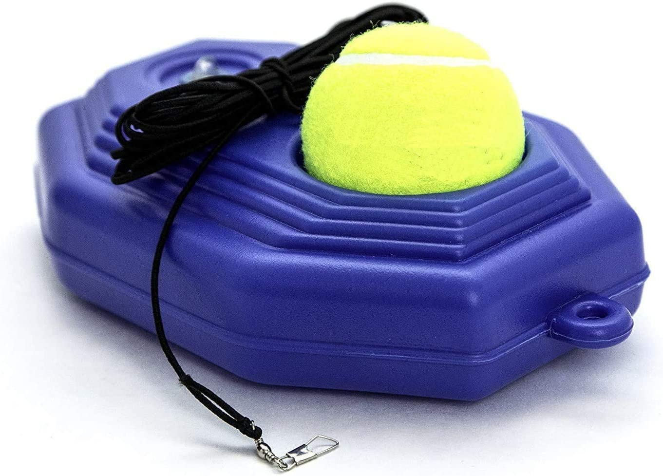 Autrix Tennis Trainer Tennis Ball Trainer Tennis Equipment Sport Exercise Tennis Base with A Rope Self-Study Tennis Rebound Player with Trainer Baseboard Training Ball (Blue) : Sports & Outdoors