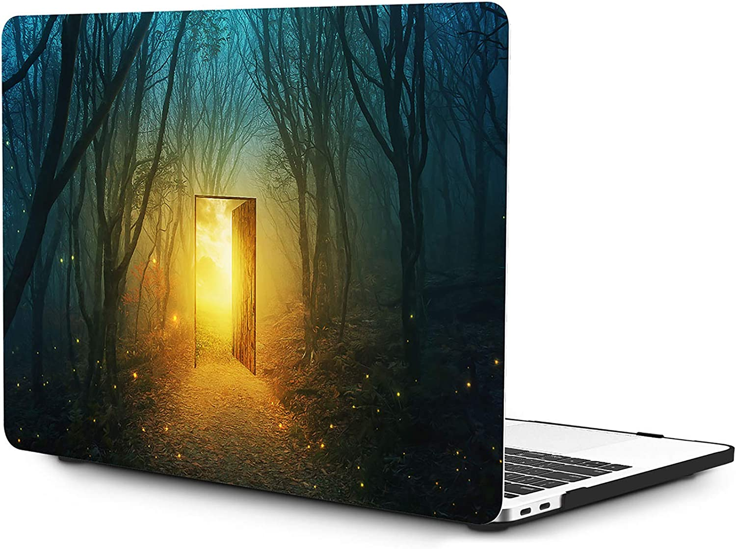 OneGET MacBook Pro 13 Inch Case with Touch Bar Laptop Case 2016 2017 2018 2019 Release A2159 A1989 A1706 A1708 Cover for MacBook Pro 13 Hard Shell Mysterious Forest (S22)