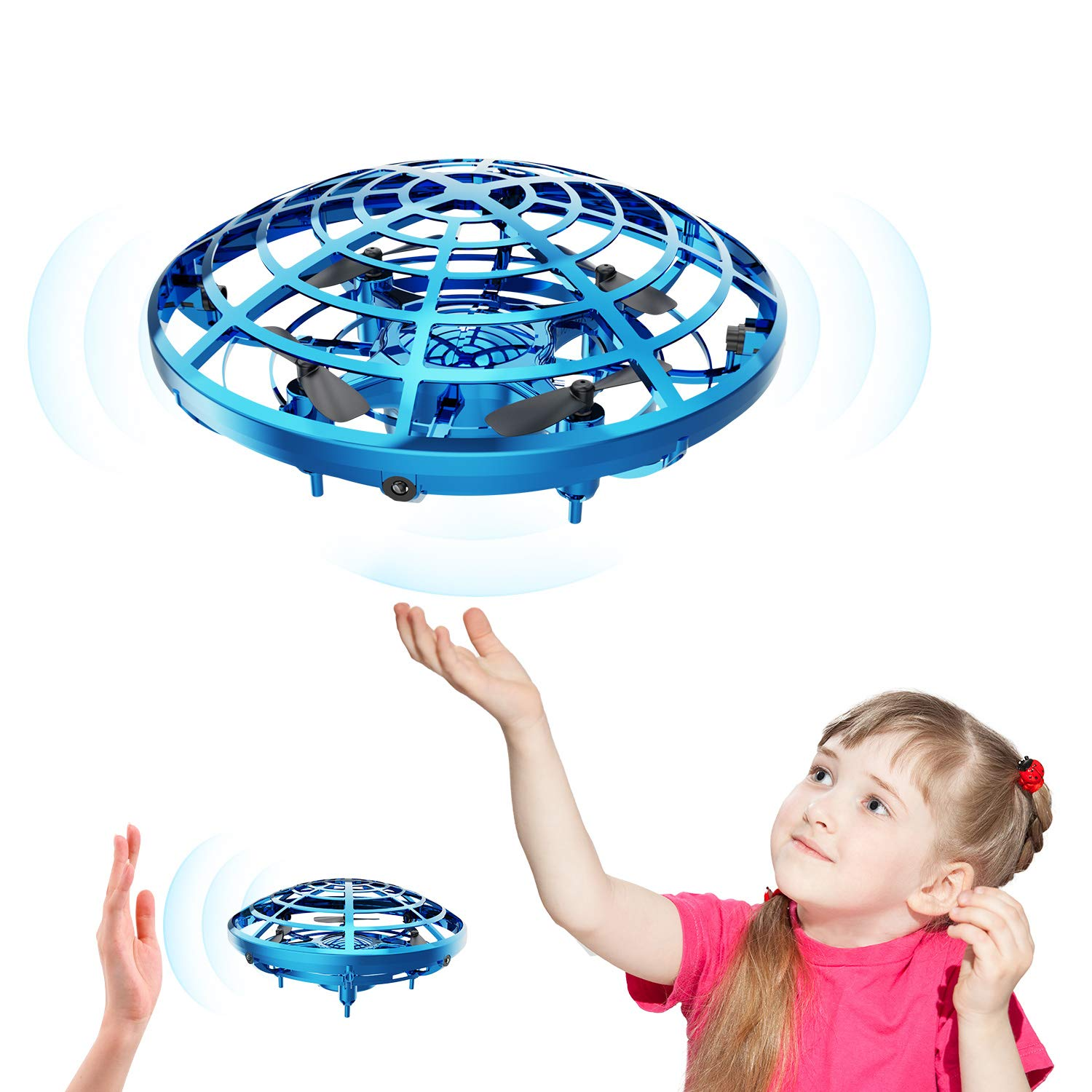 DEERC Drone for Kids Toys Hand Operated Mini Drone - Flying Ball Toy Gifts for Boys and Girls Motion Sensor Helicopter Outdoor and Indoor by DEERC