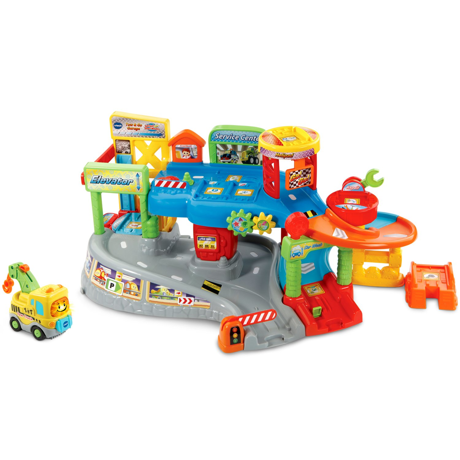 VTech Go! Go! Smart Wheels Tow and Go Garage by VTech (Image #1)