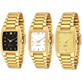 Knack Analogue Black, White & Gold Dial Boy's & Girl's Watch Combo (GL30)