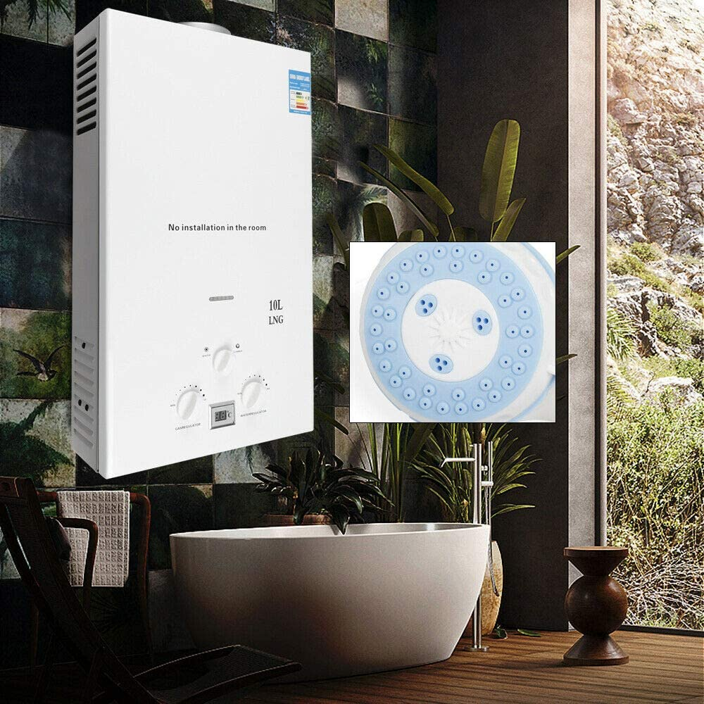36KW 10L White Natural Gas Water Heater Water Heater Boiler hot Water Storage kit