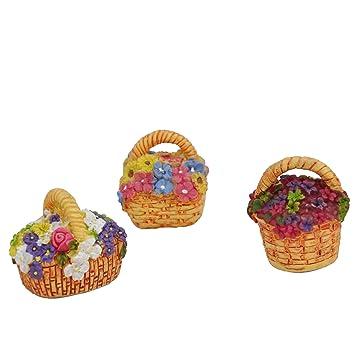 Amazon Com Miniature Fairy Garden Flower Baskets 3 Piece Set Home