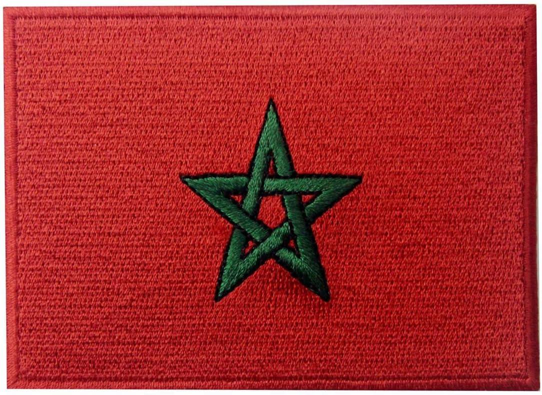 Bandera de Marruecos Marroquí Parche Bordado de Aplicación con ...
