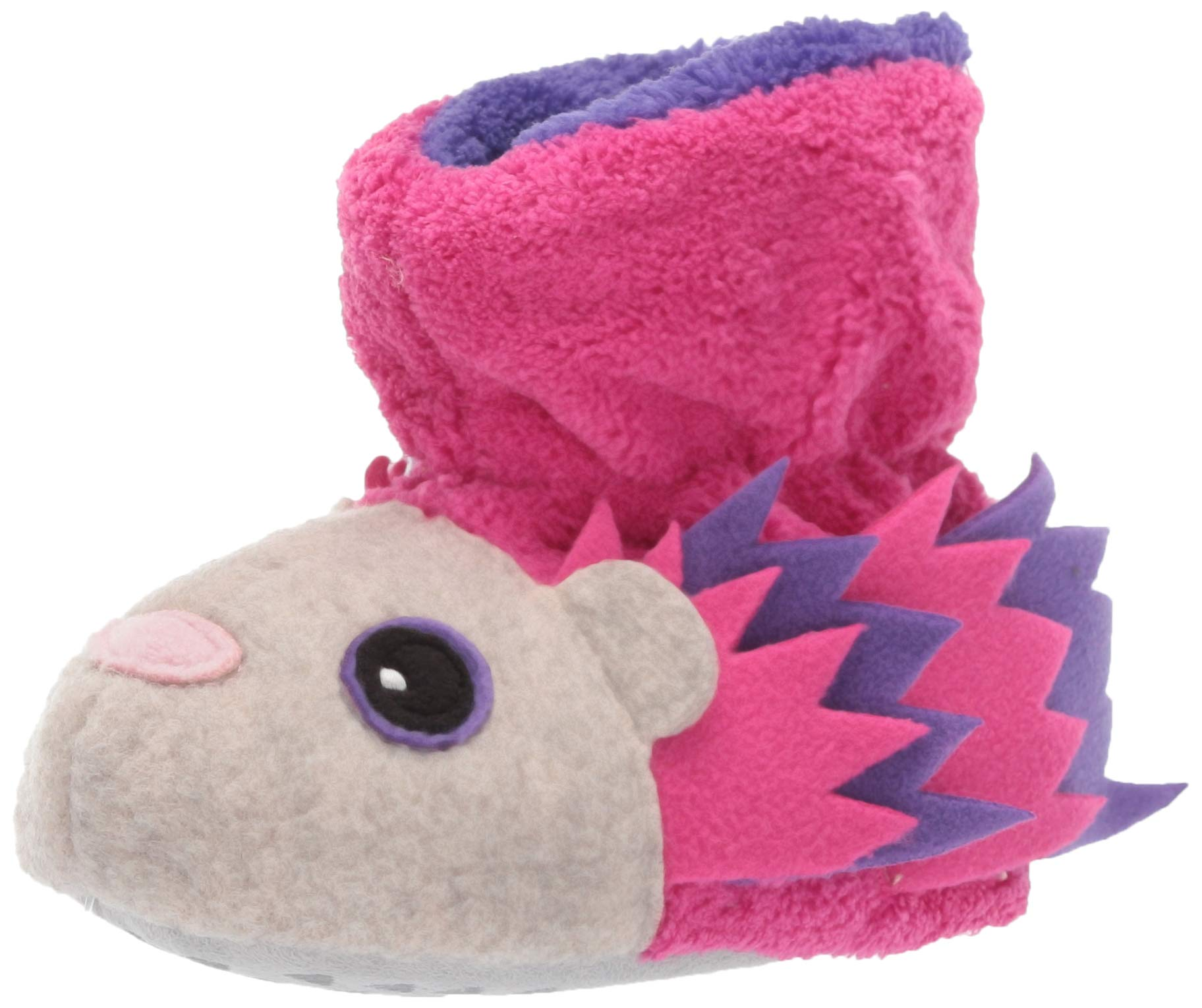 ACORN Baby Easy Critter Kids Bootie Slipper, XL, Very Berry Hedgehog by Acorn