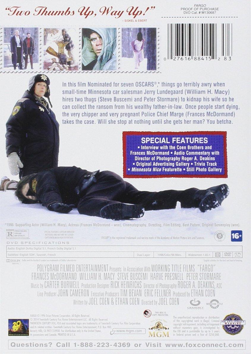 Amazon com: Fargo: Special Edition: William H  Macy, Frances
