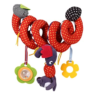 GLOGLOW Infant Spiral Wrap Around Activity Crib Toy Baby Car Seat Cute Soft Toys Bed Stroller Animals Hanging Bell Rattle Favorite Toys: Toys & Games