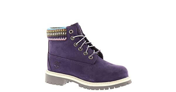 a9c1c54a8117 Timberland Kids Purple with Multi Sweater 6 Premium Waterproof Toddler 12.0  B(M) US Toddler
