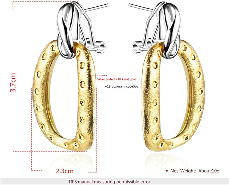 AmDxD Jewelry Stainless Steel Stud Earrings for Women Earrings Tassel Circle Black Rose Gold