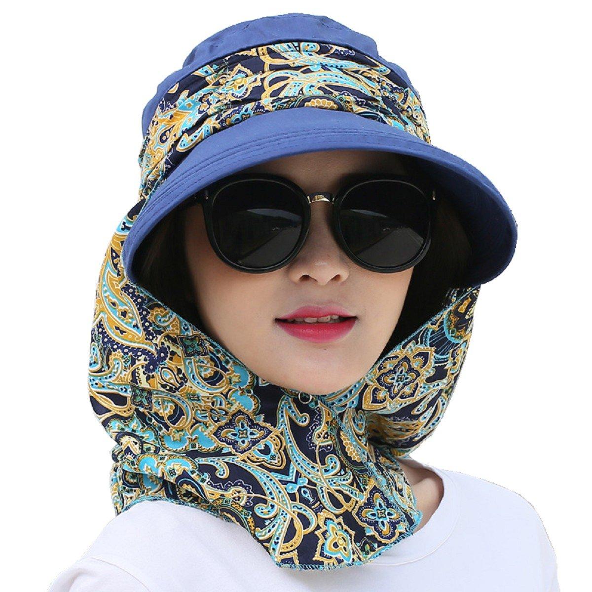 Flyfish Niñas mujeres damas Wide Brim Cap Visor Sombreros Protección UV  Summer Sun Hats (10 d193770af7e9