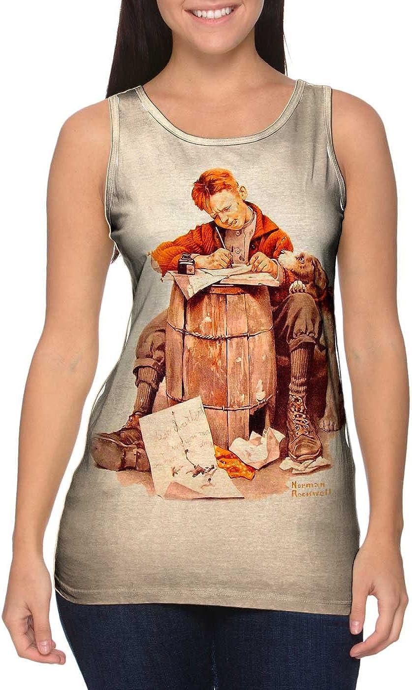 Womens Tank 2399 Norman Rockwell Yizzam Boy and Girl Gazing .-Tshirt