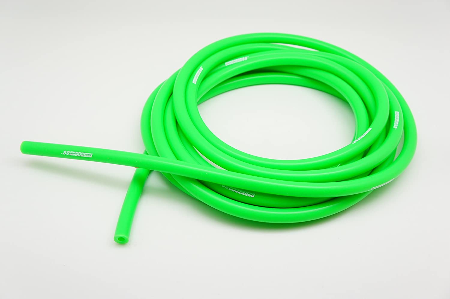 "Autobahn88 High Performance Silicone Vacuum Hose, ID 0.31"" (8mm), OD 0.55"" (14mm), 10 Feet per reel (3 Meter), Green"