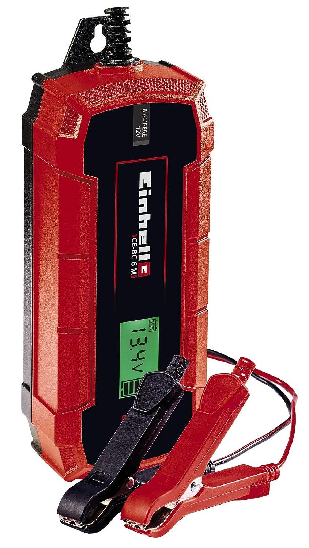 Einhell 1002235 Cargador de baterías, Rojo, Negro: Amazon.es ...