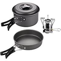 KevenAnna 10 Pcs Lightweight Camping Cookware Set