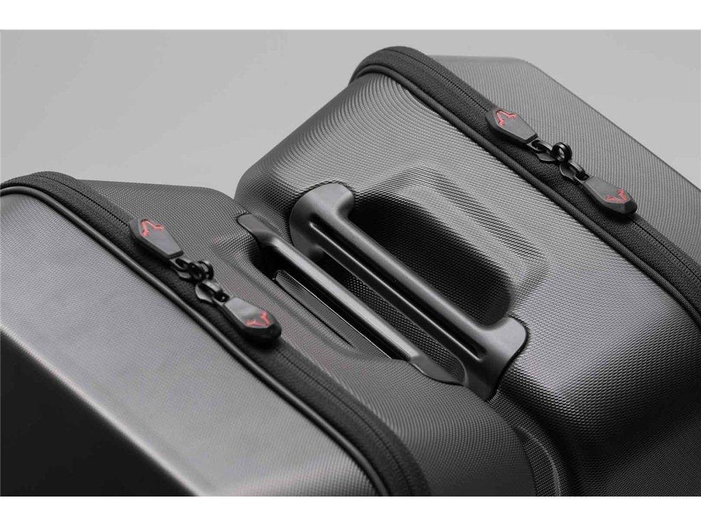 ABS-Kunststoff 2x 16,5 Liter f/ür SLC Seitentr/äger URBAN ABS Seitenkoffer-Set