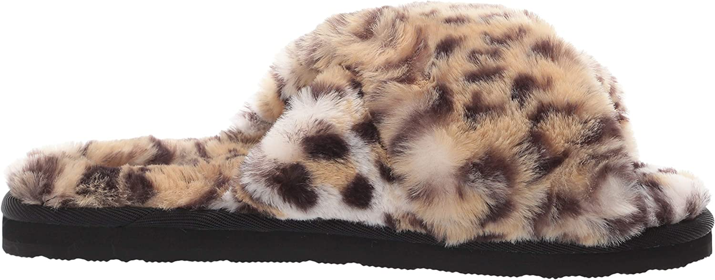 Volcom Womens Lived in Lounge Faux Fur Slide Sandal Slide Sandal