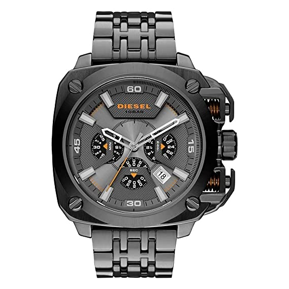 Diesel DZ7344 - Reloj de pulsera Hombre, Acero inoxidable, color Negro