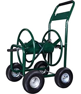 polar aurora garden water hose reel cart 300 ft outdoor heavy duty yard water planting