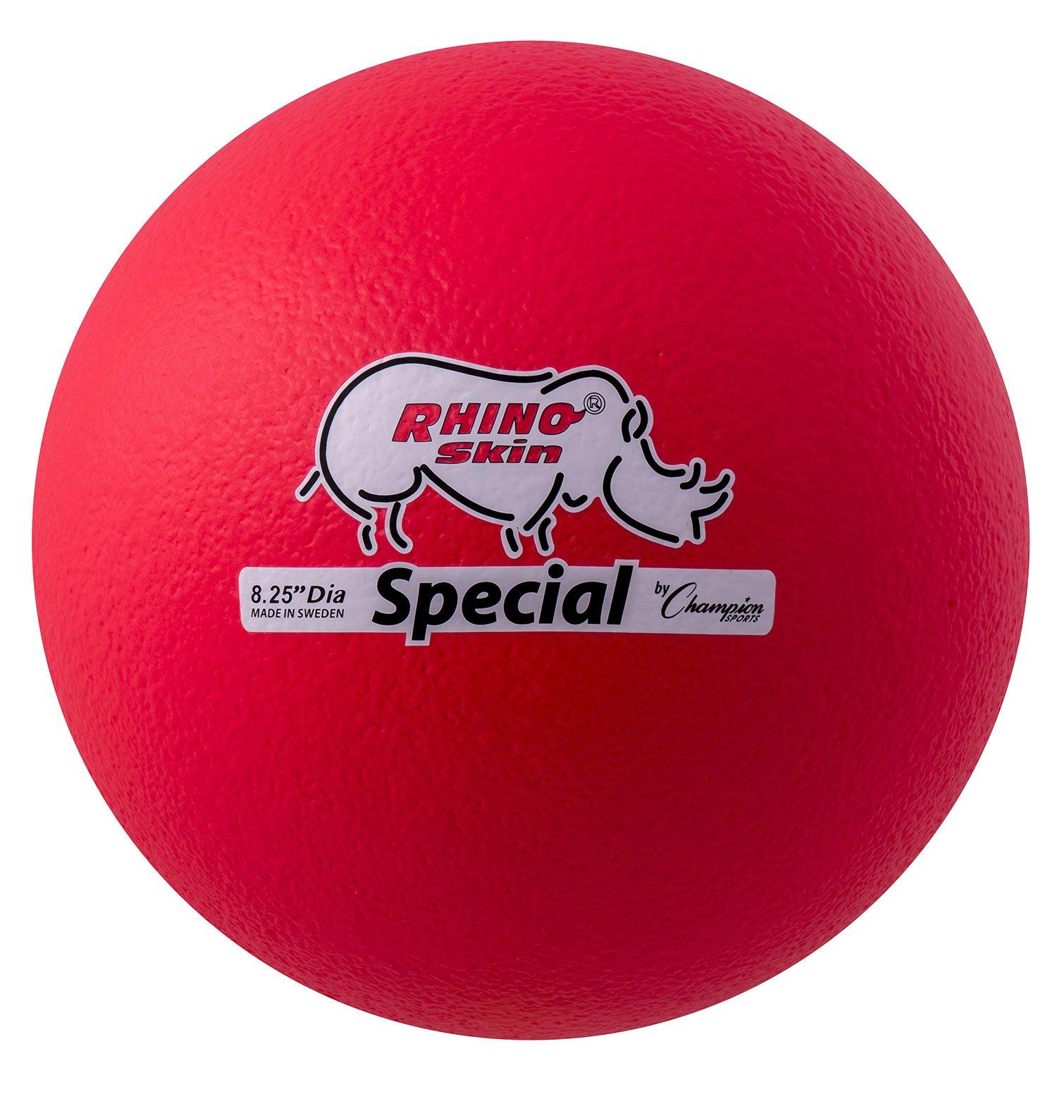 Champion Sports Rhino Skin Special Ball (Neon Red)