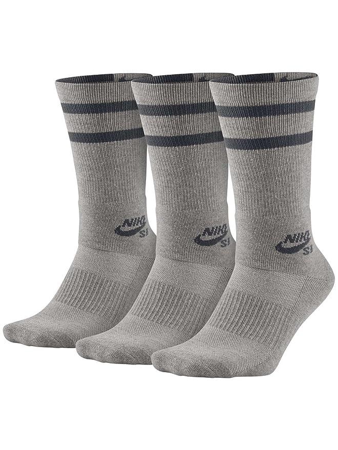 Nike SB 3PPK Crew Socks - Calcetines, Unisex: Amazon.es: Deportes y aire libre
