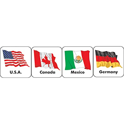 Eureka World Flags Stickers, 20 Countries: Office Products