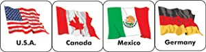 Eureka World Flags Stickers, 20 Countries