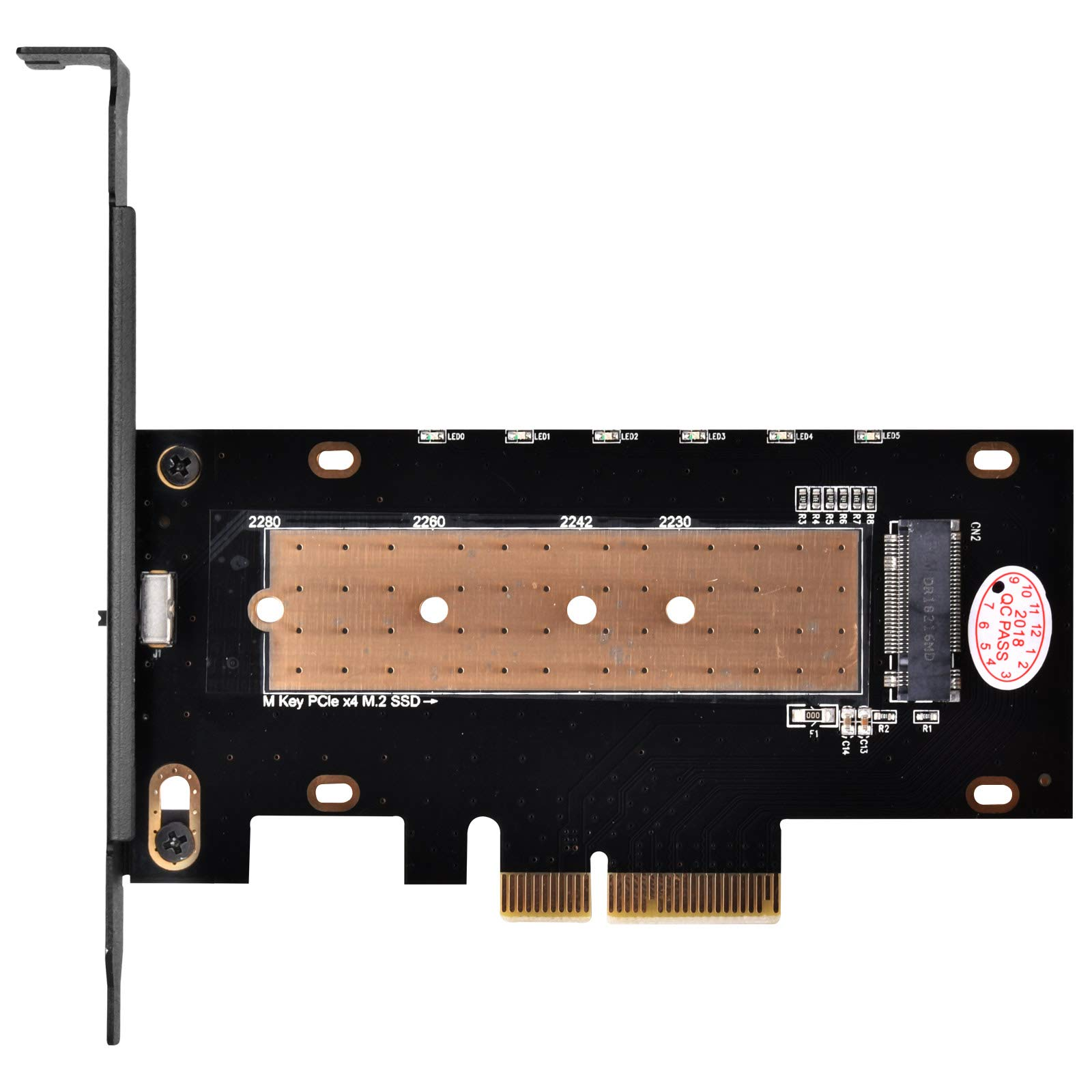 SilverStone Technology M.2 M Key PCIe NVMe Adapter to PCIe X4 with Integrated Heatsink SST-ECM24 by SilverStone Technology (Image #2)