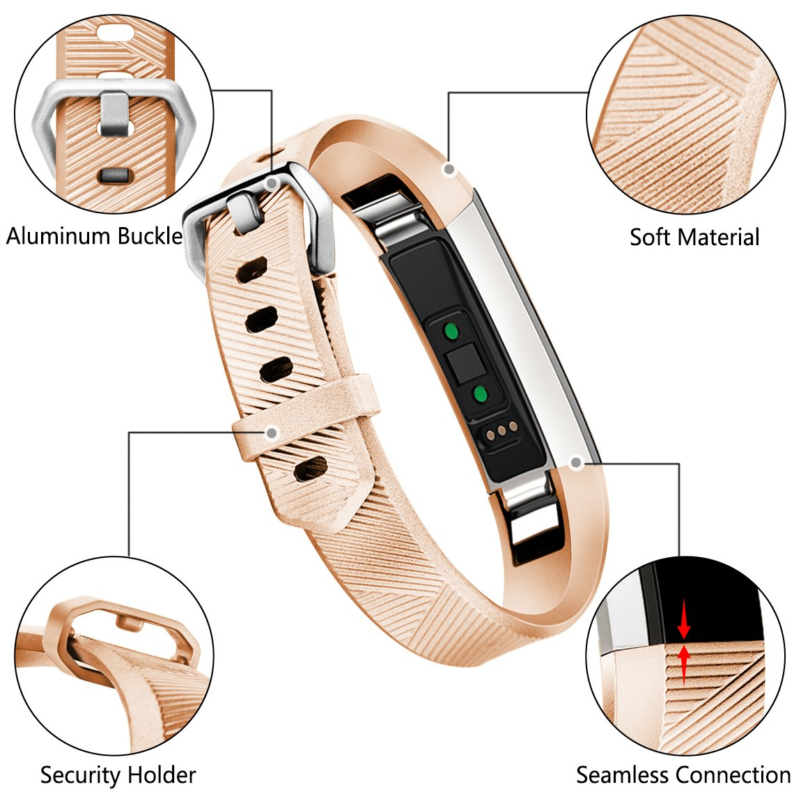 Women Men Replacement Accessories Sport Strap Band for Fitbit Alta HR//Alta//Ace Maledan Compatible with Fitbit Alta Bands XS//S//L
