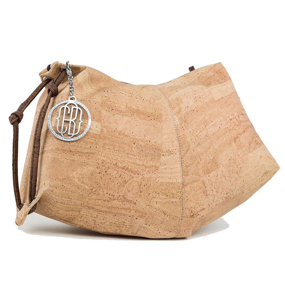 CORK HALF MOON HANDBAG Vegan Bag UNIQUE STYLE Purse Designed in Canada
