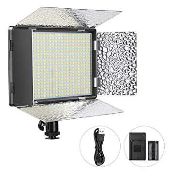 Amazon.com: Panel de luz de vídeo regulable de Enegon (520 ...