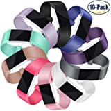 Mornex Bracelet pour Fitbit Charge 2,Lot de 10 Bande en TPU Silicone Souple Sangle de Remplacement Reglables Sport Accessorie pour Fitbit Charge 2