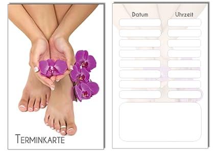 Terminkarten Relaxing Feet Mit 5 Terminfeldern Und